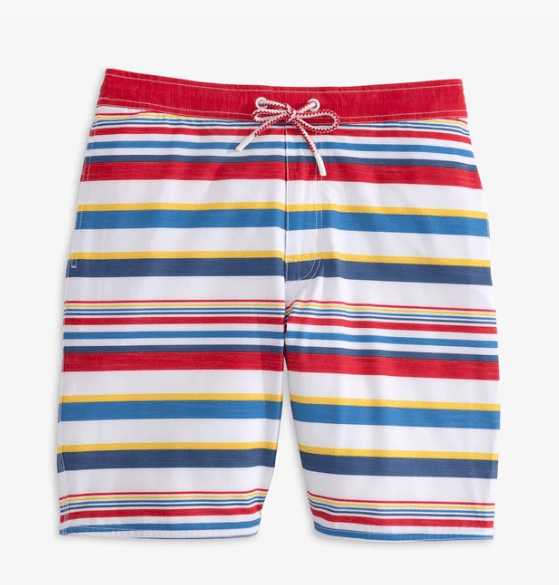 Johnnie-O Boy's Swim 10 / red Johnnie-O, Boys Hopetown Swim Trunks (Cayenne)