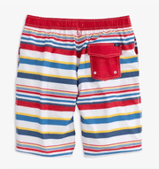 Johnnie-O Boy's Swim Johnnie-O, Boys Hopetown Swim Trunks (Cayenne)