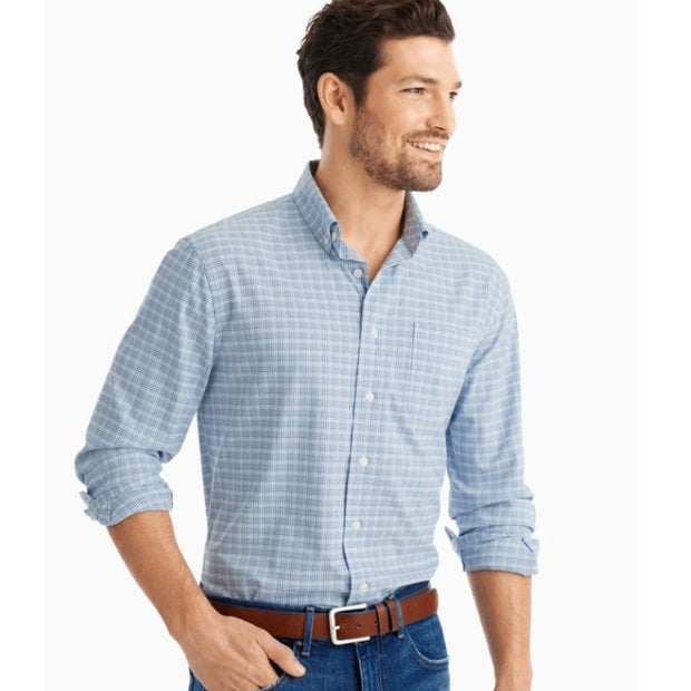 johnnie-o checkered button down shirt