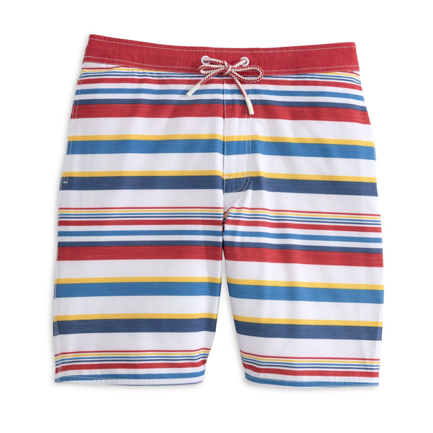 Johnnie-O Men's Bathing Suit Medium Johnnie-O, Men's Hope Town Volley/Board Short (Boardwalk Stripe)
