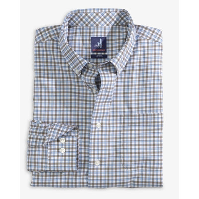 Johnnie-O Men's Button-Down Shirts Johnnie-O, Men's Redman Performance Button-Down Shirt (Gulf Blue)