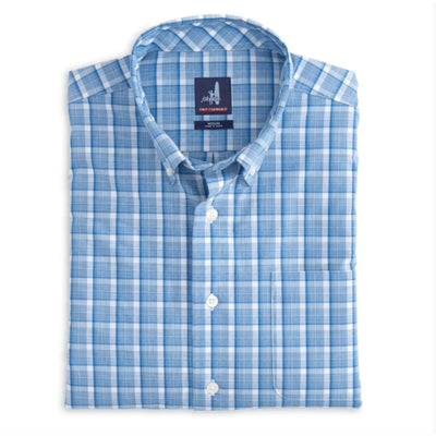 Johnnie-O Men's Button-Down Shirts Medium Johnnie-O, Men's Seamus Shirt (Splash Blue)