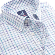 Johnnie-O Men's Button-Down Shirts Johnnie-O, Men's Shawn Tattersall Shirt (White/Multi)