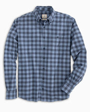 Johnnie-O Men's Flannel Johnnie-O, Men's Hawkins Flannel (Laguna Blue)