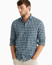 Johnnie-O Men's Flannel Johnnie-O, Men's Pawley Flannel (Mariner Blue)