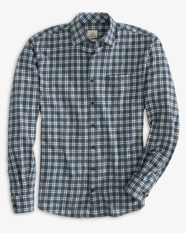 Johnnie-O Men's Flannel Large / Mariner Johnnie-O, Men's Pawley Flannel (Mariner Blue)