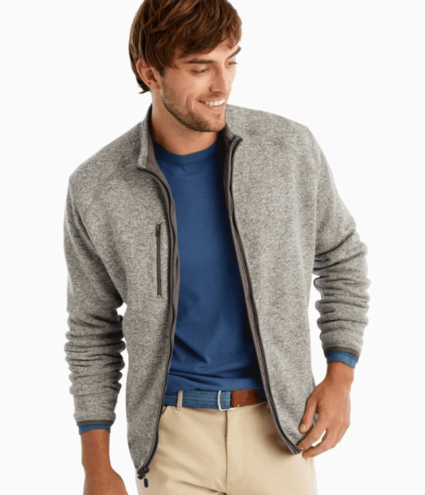 Johnnie-O Men's Jacket Large / Grey Johnnie-O, Men's Bates Zip Jacket (Multiple Colors)