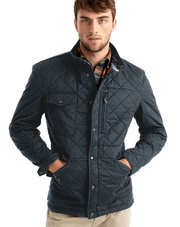 Johnnie-O Men's Jacket Large / Navy Blue Johnnie-O, Men's Weldon Jacket (Navy)