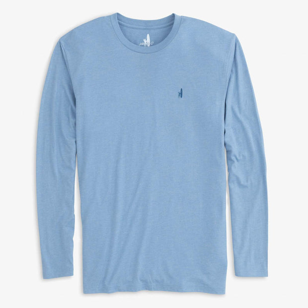Johnnie-O Men's Long Sleeve Tee Johnnie-O, Men's Long Sleeve Island Vibes Tee (Gulf Blue)