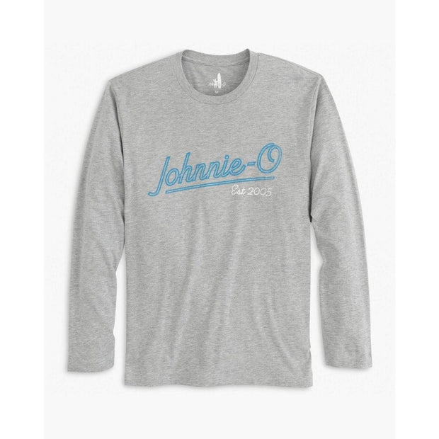 Johnnie-O, Men's Playa Script Long Sleeve Tee (Grey)
