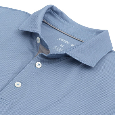 Johnnie-O Men's Polo Shirts Medium Johnnie-O, Men's Robben Performance Polo (Cloud Blue)