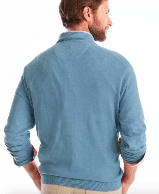 Johnnie-O Men's Sweaters Johnnie-O, Men's Bailey Quarter-Zip (Blue)