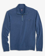 Johnnie-O Men's Sweaters Medium Johnnie-O, Men's Keane 1/4-Zip Pullover (Ocean Blue)