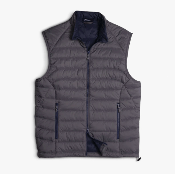 Johnnie-O Men's Vest Johnnie-O, Men's Straits Vest ( Storm Grey)