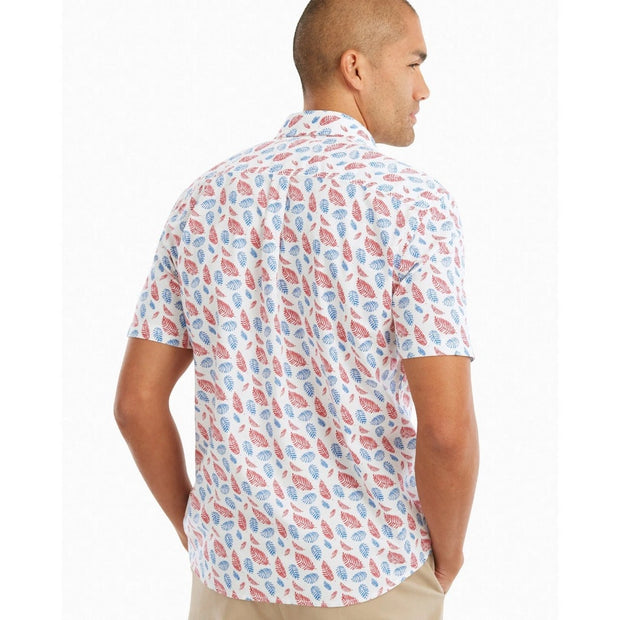 Johnnie-O, Orcas Printed Short-Sleeve Button Down Shirt (White)