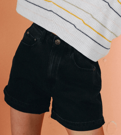 Lira Women's Shorts 25 Lira, Women's Charger Shorts (Black)