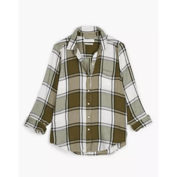 Lucky Brand Women's Tops Lucky Brand, Women's Classic Fit Flannel (Green Multi)