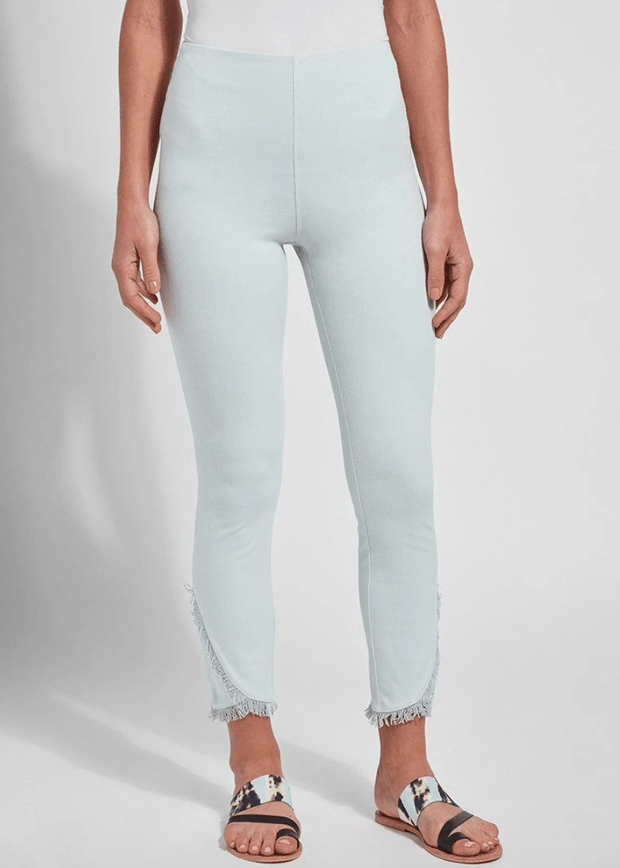 Lysse Women's Pants Large / Aqua Blue Lyssé, Women's Fringe Tulip Hem Denim (Light Blue)