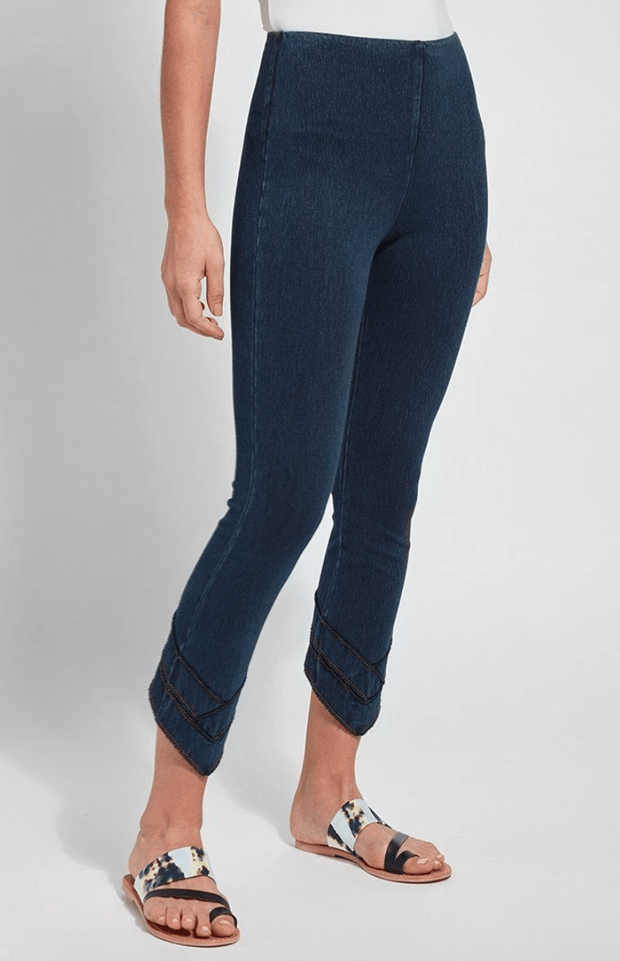 Lysse Women's Pants Large / Indigo Blue Lyssé, Women's Crop Legging (Dark Blue)