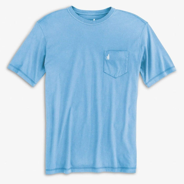 johnnie-o pocket tee in blue