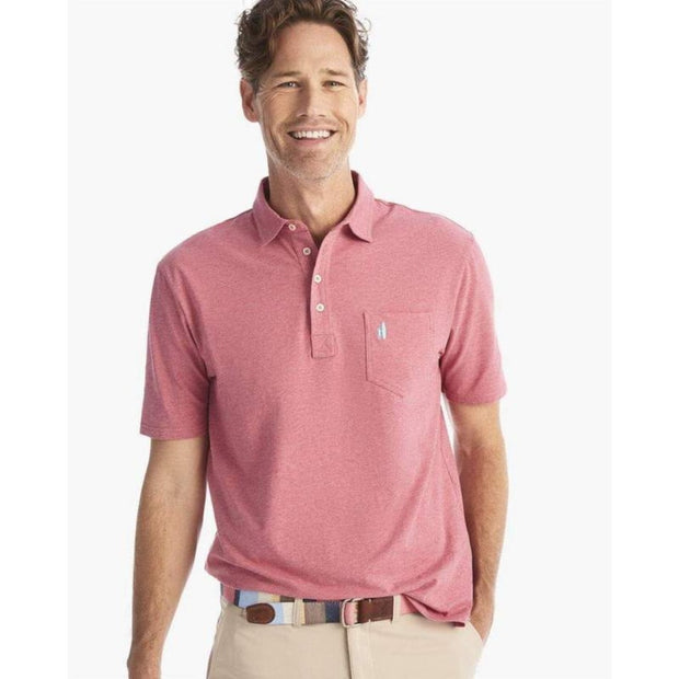 Johnnie-O, Men's Heathered Original Hangout Polo (Rio Red)