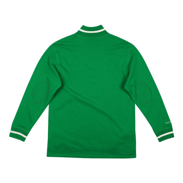 Mitchell & Ness Men's Sweaters Mitchell & Ness, Eagles Terry 1/4 Zip Sweater (Green)