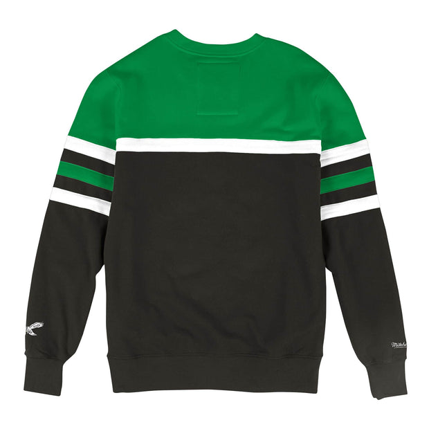 Mitchell & Ness Men's Sweaters Mitchell & Ness, Men's Eagles Head Coach Crew Sweater (Green)