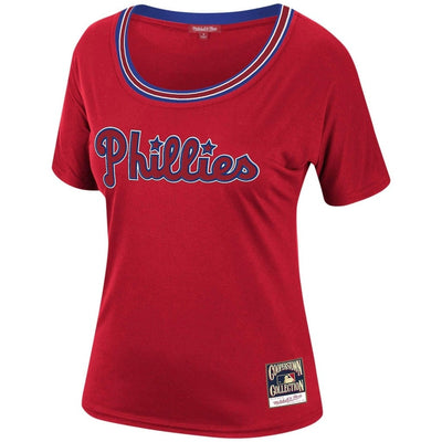Mitchell & Ness, Women's Phillies Slouchy Tee (Red)