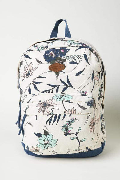 O'Neill Backpacks Floral, Cream, and Blue O'Neill, Shoreline Backpack (Insignia Floral Blue)