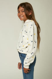 O'Neill Girl's Sweaters O'Neill, Girl's Chandra Sweatshirt (Cream)