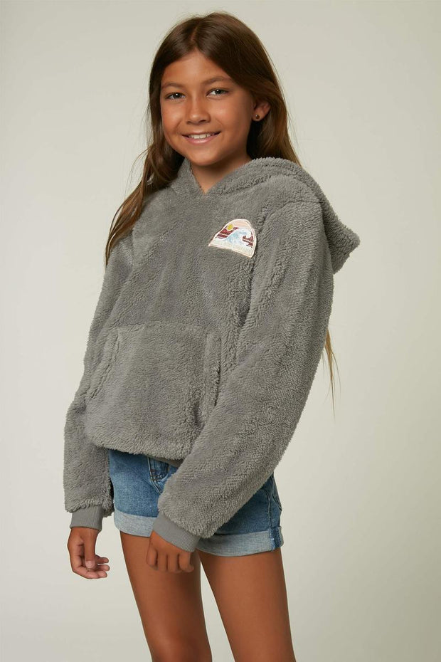 O'Neill Girl's Sweaters O'Neill, Girls' Melanie Hooded Pullover (Grey)