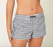 "O'Neill Girl's Swim 10 / Black and White O'Neill, Girls Breeze 2"" Boardshorts (Striped White)"