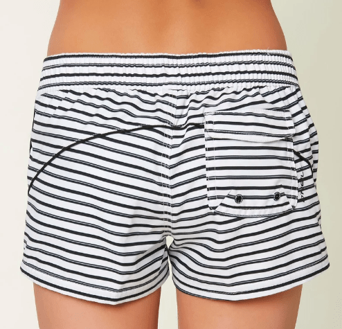"O'Neill Girl's Swim O'Neill, Girls Breeze 2"" Boardshorts (Striped White)"