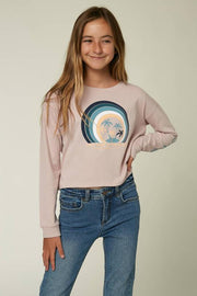 O'Neill Girl's Tops O'Neill, Girl's Sunbeam Long-Sleeve Graphic Tee (Lilac)
