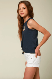 O'Neill Girl's Tops O'Neill, Girl's Sunflower Power Tank (Navy Blue)
