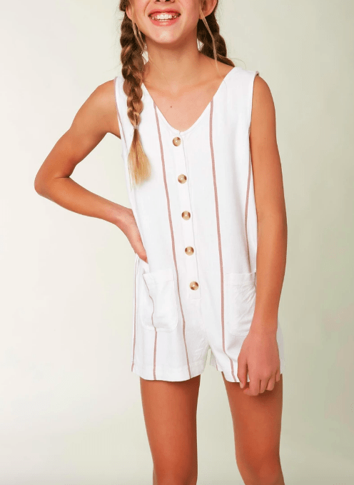 O'Neill Girls dresses Large / Ivory O'Neill, Girls Immie Romper (White)