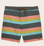 O'Neill Men's Bathing Suit 31 / Graphite O'Neill, Men's Faux Sho Cruzer Boardshorts (Grey Striped)