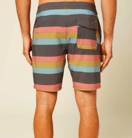 O'Neill Men's Bathing Suit O'Neill, Men's Faux Sho Cruzer Boardshorts (Grey Striped)