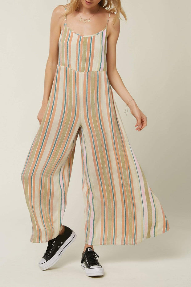 O'Neill Women's Jumpsuits XS O'Neill, Women's Juls Striped Jumpsuit (Sand)