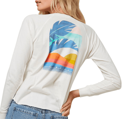 O'Neill Women's Long Sleeve Tee O'Neill, Women's Secret Beach Long Sleeve Tee (White)