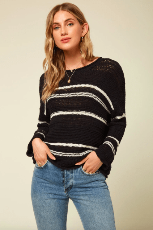 O'Neill Women's Sweaters Large / Black O'Neill, Women's Salty Sweater (Black)