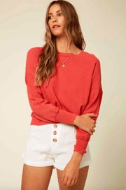 O'Neill Women's Sweaters Large / Rose O'Neill, Women's Sandy Sweater (Rose Red)
