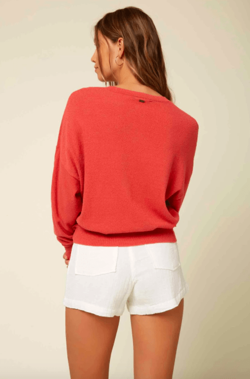 O'Neill Women's Sweaters O'Neill, Women's Sandy Sweater (Rose Red)