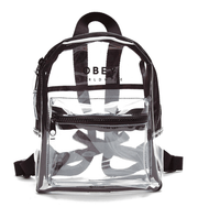Obey Backpacks One Size / Clear and Black Obey, Unisex Lucid Mini Backpack (Multiple Colors)
