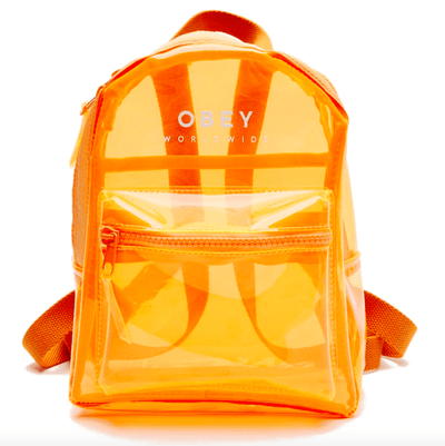 Obey Backpacks One Size / Orange Obey, Unisex Lucid Mini Backpack (Multiple Colors)