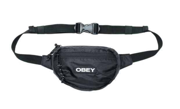 Obey Hip Pack One Size / Black Obey, Unisex Commuter Waist Pouch (Multiple Colors)