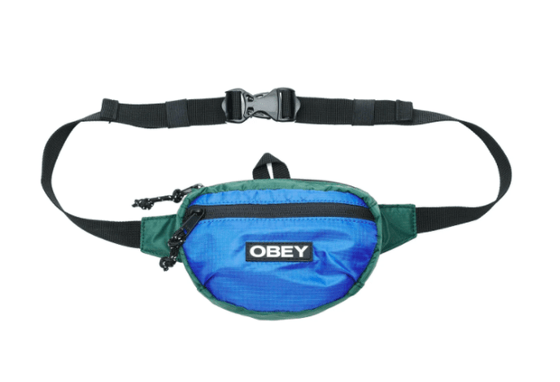 Obey Hip Pack One Size / Blue Obey, Unisex Commuter Waist Pouch (Multiple Colors)