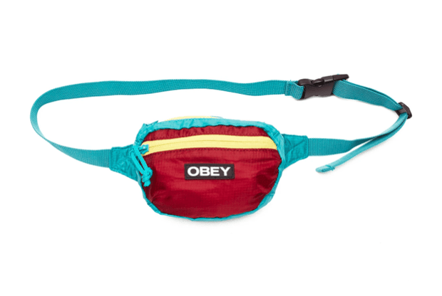 Obey Hip Pack One Size / Fig Red Obey, Unisex Rapids Waist Pack (Multiple Colors)