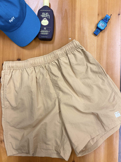 Obey Men's Shorts Medium Obey, Men's Easy Relax Short (Almond)