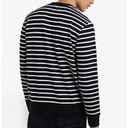 Obey Men's Sweatshirt Obey, Men's Saginaw Crew (Black Stripe)